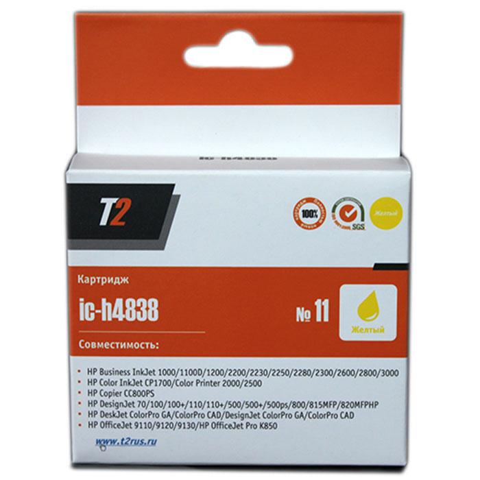 T2 IC-H4838 картридж для HP Business InkJet 1200/2200/2600/2800/CP1700/Pro K850 (№11), Yellow