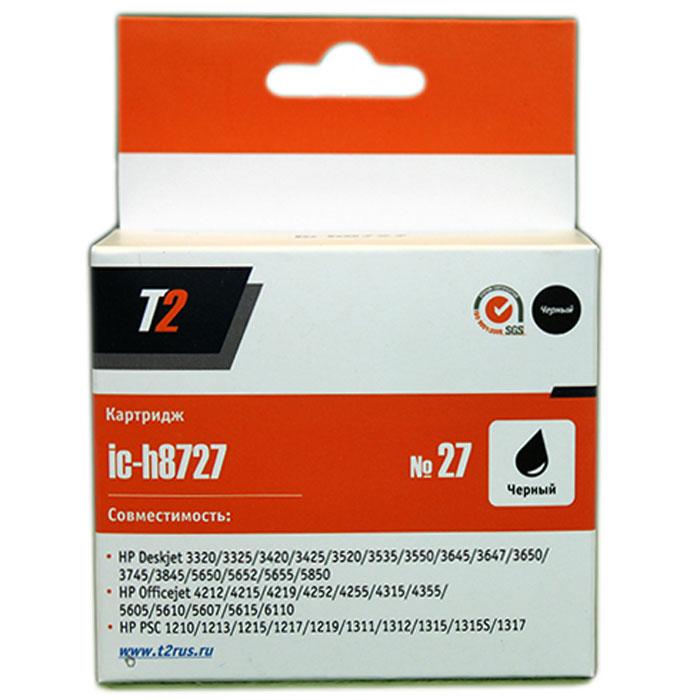 T2 IC-H8727 картридж для HP Deskjet 3320/3520/3550/0/1210/1315/Officejet 4335/6110 (№27), BlackIC-H8727Картридж T2 IC-H8727 с черными чернилами для струйных принтеров и МФУ HP. Картридж собран из качественных комплектующих и протестирован по стандарту ISO.