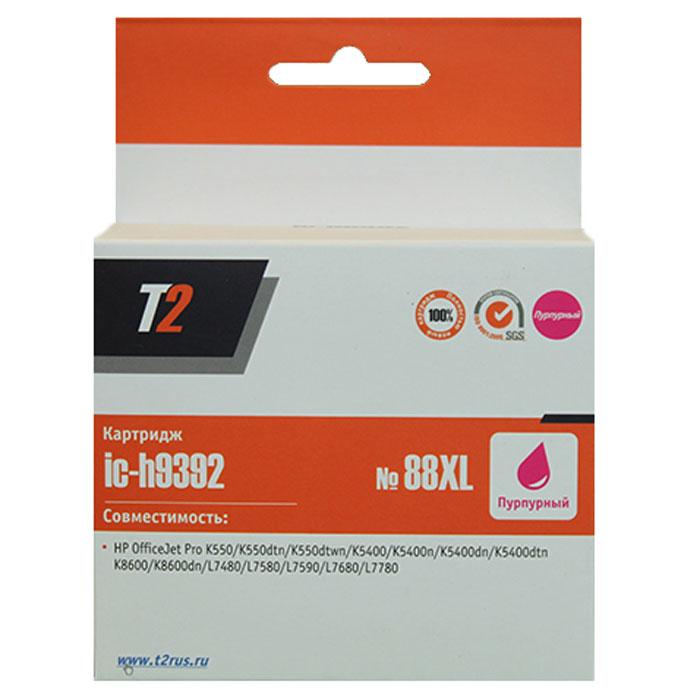 T2 IC-H9392 картридж для HP OfficeJet Pro K550/K5400/K8600/L7480/L7580/L7680/L7780 (№88XL), Purple
