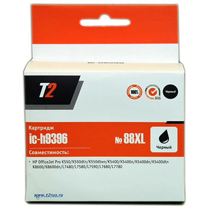 T2 IC-H9396 картридж для HP OfficeJet Pro K550/K5400/K8600/L7480/L7580/L7680/L7780 (№88XL), Black