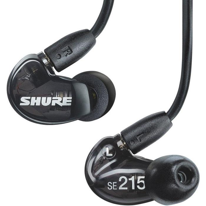Shure SE215K наушники15113911Shure SE215 - концертные звукоизолирующие наушники, обладают сбалансированными однокомпонентными микродинамиками, съемным кабелем с позолоченными разъемами и точным звуковоспроизведением. Эргономичный профессиональный дизайн с легкими низкопрофильными корпусами, позволяет наушникам удобно располагаться в ушных раковинах. Прочный, усиленный кевларом кабель, позволяет легко придавать ему необходимую форму.