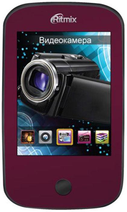 Ritmix RF-7200 4GB, Dark Red mp3-плеер15116262Ritmix RF-7200 – это новый многофункциональный плеер, который в своем компактном корпусе совмещает множество полезных функций: конечно, это воспроизведение аудио- и видеофайлов, отображение текстовых и графических документов. Более того, плеер оснащен фото и видеокамерой, а при подключении к компьютеру может работать в режиме веб-камеры.
