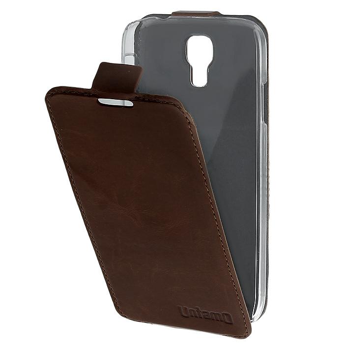Untamo Timber чехол-флип для Samsung GT-i9500/GT-i9505 Galaxy S4/S IV, Choco Blast (UTIMFS4CHO)UTIMFS4CHOКожаный чехол-флип Untamo Timber для Samsung GT-i9500/GT-i9505 Galaxy S4/S IV это легкий и стильный аксессуар, который создан, чтобы подчеркнуть совершенство смартфона от Samsung. Прозрачный держатель подчеркивает изящные формы Galaxy S IV и защищает его от любых механических повреждений, в том числе боковые стороны и углы устройства. Тонкий внутренний слой из микрофибры мягко удаляет отпечатки пальцев и пыль с экрана и создает дополнительную защиту. Разнообразие насыщенных цветов коллекции Timber удовлетворит даже самый взыскательный вкус. Натуральная кожа высокого качества Ручная работа Тонкость и точный раскрой Всесторонняя защита Легкость Легкий доступ ко всем разъемам и камерам