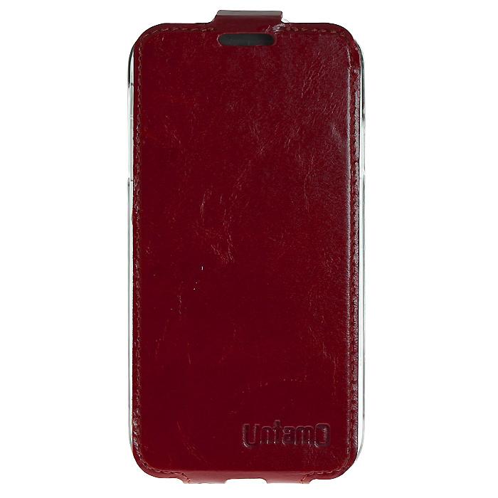 Untamo Timber чехол-флип для Samsung GT-i9500/GT-i9505 Galaxy S4/S IV, Maroon Deep (UTIMFS4MAR)