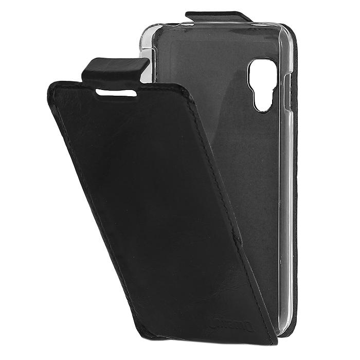 Untamo Timber чехол-флип для LG Optimus L5 II Dual, Black (UTIMFL5IIBL)UTIMFL5IIBLКожаный чехол-флип Untamo Timber для LG Optimus L5-II поможет защитить Ваш смартфон от царапин и мелких повреждений. Изнутри аксессуар выполнен из микрофибры, которая заботится об экране смартфона. Чехол обеспечивает всестороннюю защиту при этом доступ к функциональным разъемам и камере остается открытым.