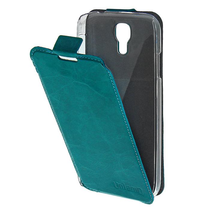Untamo Timber чехол-флип для Samsung GT-i9500/GT-i9505 Galaxy S4/S IV, Aquamarine (UTIMFS4AQU)