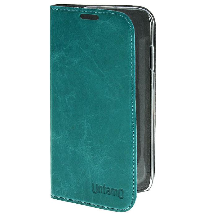 Untamo Timber чехол для Samsung Galaxy S4, Aquamarine (UTIMBS4AQU)UTIMBS4AQUЧехол-книжка Untamo Timber для Samsung Galaxy S4 - это легкий и стильный аксессуар, который создан, чтобы подчеркнуть совершенство смартфона от Samsung. Прозрачный держатель подчеркивает изящные формы Galaxy S4 и защищает его от любых механических повреждений, в том числе боковые стороны и углы устройства. Тонкий внутренний слой из микрофибры мягко удаляет отпечатки пальцев и пыль с экрана и создает дополнительную защиту. Разнообразие насыщенных цветов коллекции Timber удовлетворит даже самый взыскательный вкус.