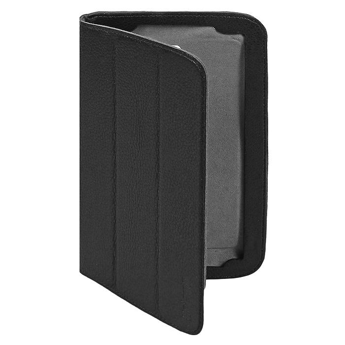 Untamo Timber чехол для Samsung Galaxy Tab 3 7 SM-T2100/T2110, Black (UTIMSAMSTAB37BL)UTIMSAMSTAB37BLЧехол Untamo Timber для Samsung Galaxy Tab 3 7 - это функциональный аксессуар роскошной цветовой гаммы из натуральной кожи высшего качества. Внутренняя поверхность чехла выполнена из микрофибры, которая деликатно удаляет с экрана пыль и отпечатки пальцев. Аксессуар позволяет устанавливать устройство в двух положениях - комфортной печати и просмотра фото и видео. Для дополнительной защиты устройства от механических повреждений задняя поверхность чехла уплотнена. Прорези выполнены таким образом, что не нарушают общую контурную линию изделия, обеспечивая легкий доступ ко всем кнопкам, разъемам и камерам устройства. Функциональность и богатая палитра оттенков чехлов коллекции Timber подчеркнут индивидуальность владельца и его утонченный вкус.