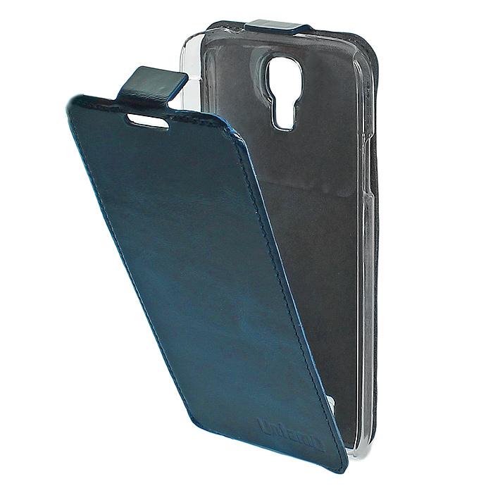 Untamo Timber чехол-флип для Samsung GT-i9500/GT-i9505 Galaxy S4/S IV, Deep Blue (UTIMFS4DEB)