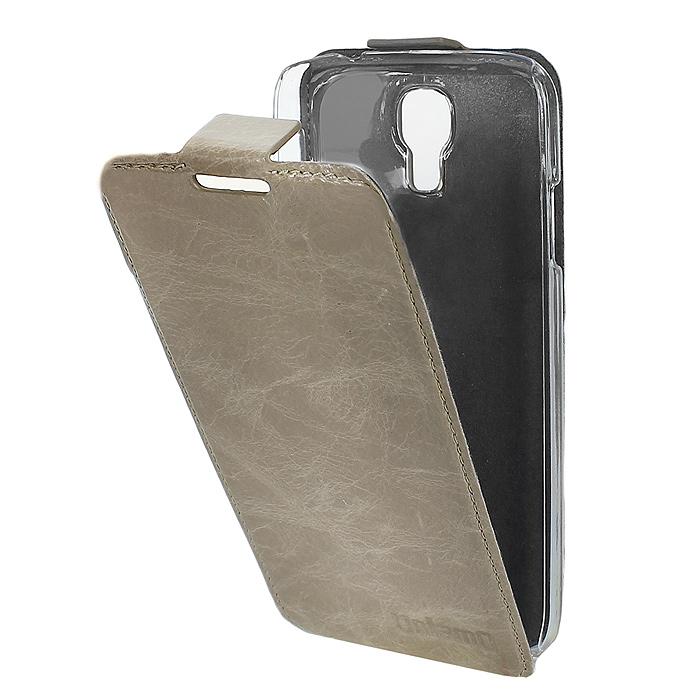 Untamo Timber чехол-флип для Samsung GT-i9500/GT-i9505 Galaxy S4/S IV, Linen Rock (UTIMFS4LIN)