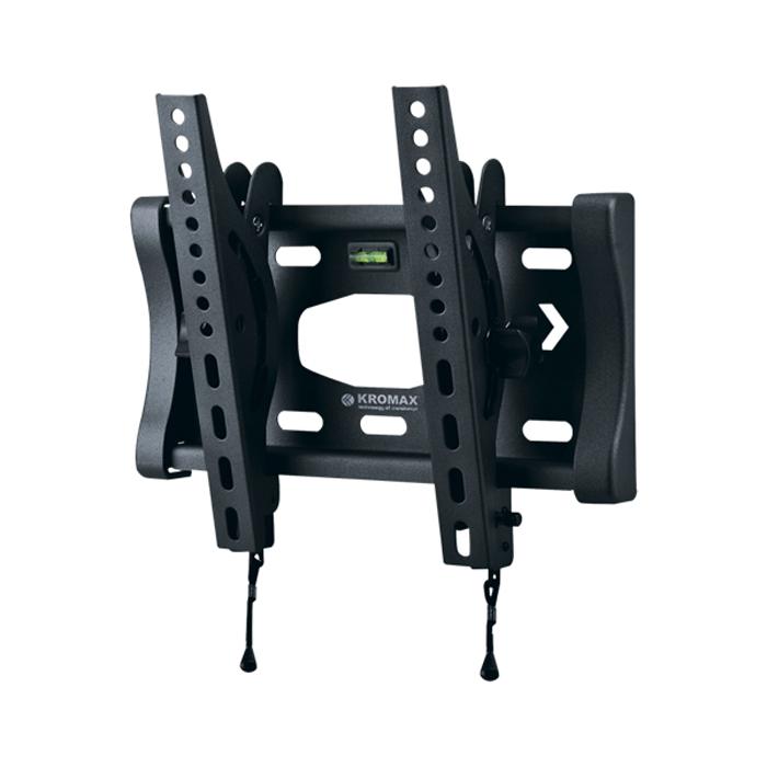 Kromax Star-6, Grey кронштейн для ТВ20059Наклонный кронштейн для ЖК (LCD) телевизоров и плазменных панелей с регулируемым наклоном и расстоянием от стены - 76 мм. Встроенный водяной уровень. С помощью технологии TechLock, вы легко сможете снять ТВ с кронштейна вместе с направляющими. Максимальные посадочные отверстия по горизонтали - 230 мм, по вертикали - 240 мм.