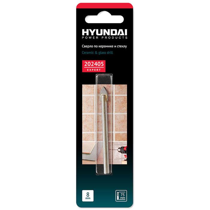 Hyundai сверло по кафелю, керамике, стеклу, 8,0 х 75 мм