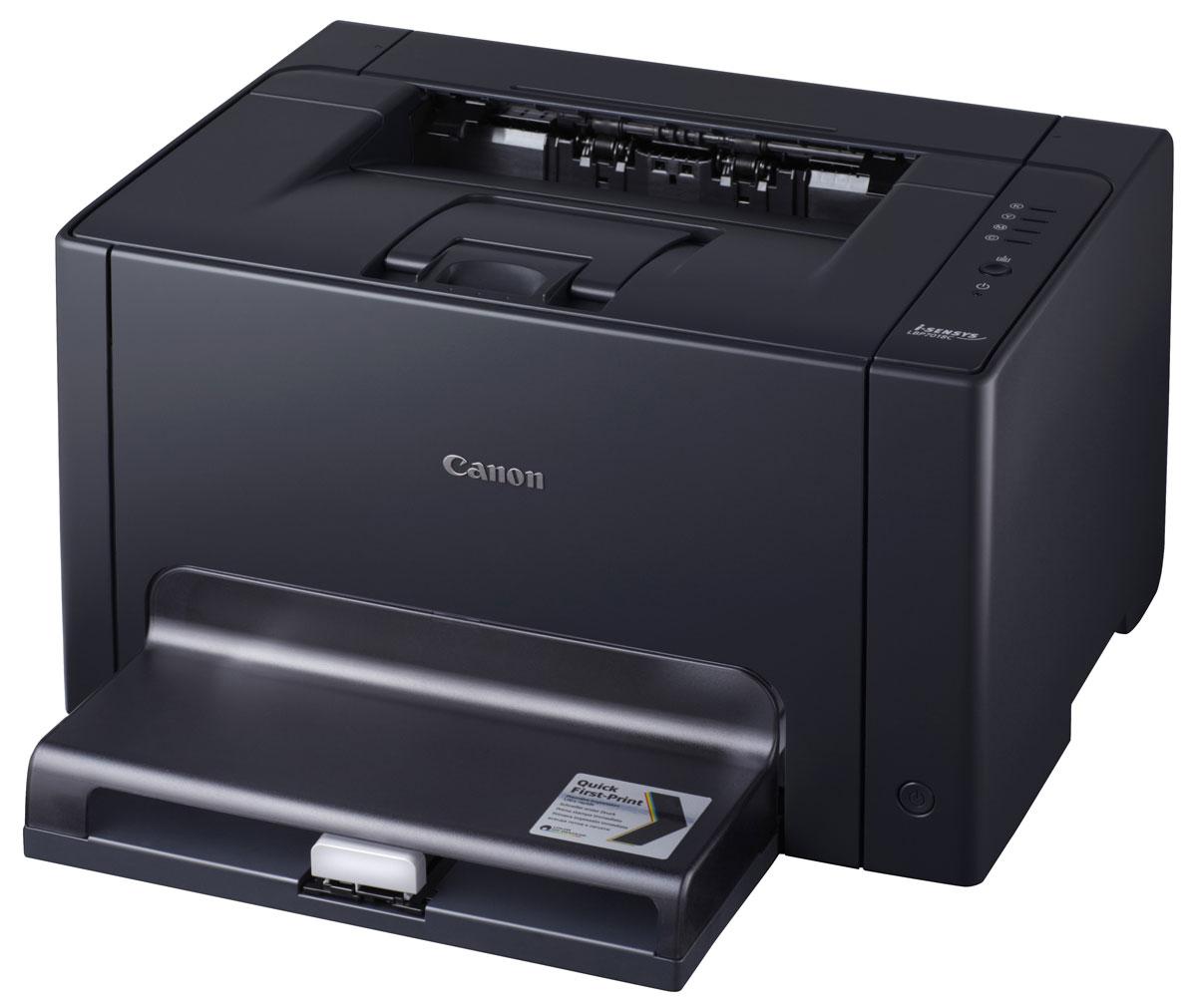 Canon i-Sensys LBP7018C лазерный принтер4896B004Миниатюрный цветной лазерный принтер Canon i-Sensys LBP7018C обеспечивает бескомпромиссное качество и непревзойденную экономию электроэнергии. Стильный, компактный дизайн: Компактная конструкция i-Sensys LBP7018C и низкий уровень шума при работе делают его идеальным настольным принтером для небольших или домашних офисов. Компактный и быстро реагирующий, этот доступный лазерный принтер обеспечивает исключительное качество цветной печати. Быстрая печать: Время ожидания результатов печати сводится к минимуму благодаря технологии Quick First-Print Canon. Скорость печати 16 стр./мин. в черно-белом и 4 стр./мин. в цветном режиме. Благодаря функции First Print Out Time в черно-белом режиме время выхода первого листа всего 13,6 с. Великолепный результат — в цветном и черно-белом режиме: Добейтесь успеха с отличным качеством отпечатков. Благодаря разрешению печати 2400 x 600 точек на дюйм Вы заметите улучшенную детализацию, резкость...