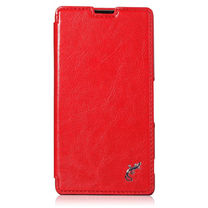 G-case Slim Premium чехол для Sony Xperia Z1, RedGG-187Чехол G-Case Slim Premium для Sony Xperia Z1 разработан с учётом образа жизни пользователя Sony Xperia Z1. Этот чехол-обложка, надежно защитит Ваш смартфон от ударов и царапин, его внутренняя поверхность выполнена из мягкой микрофибры для защиты экрана от царапин и сколов. В чехле предусмотрены все вырезы для динамиков, портов и камер так что Вам не придется доставать свой гаджет из чехла. Возьмите его с собой в спортзал, в поход, в магазин или на вечеринку.