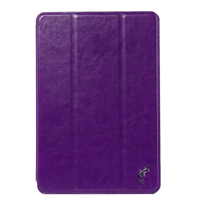 G-case Slim Premium чехол для iPad mini, PurpleGG-133Чехол G-Case Slim Premium для iPad mini имеет незаменимую функцию подставки, теперь просмотр видео или набор текста будут доставлять вам только удовольствие. Встроенные в переднюю крышку магниты позволят экономить заряд батареи, так как при закрывании крышки они вводят планшет в режим сна. Не нужно беспокоиться выключили ли iPad mini или нет, G-case все сделает за вас. Но основная задача чехла G-case - это защита гаджета от всевозможных повреждений и даже падения, сколов, царапин, пыли. На внутренней поверхности мягкая ткань, поддерживающая экран устройства в чистоте. G-case сохранит iPad в надлежащем состоянии весь срок службы.