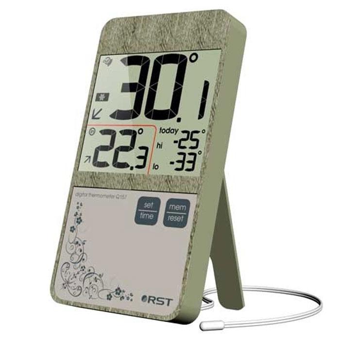 RST02157 цифровой термометр в стиле iPhone 42157RST02157 - это оригинальная модель термометра, дизайн которой выполнен в модном стиле iPhone с использованием кожаной текстуры. Устройство оснащено системой автоматического контроля за минимальной и максимальной температурой за текущие сутки.