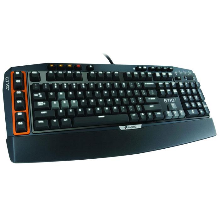 Logitech G710+ (920-005707) клавиатура920-005707Механические клавиши клавиатуры Logitech G710+ (920-005707) обеспечивают чувствительность игрового класса и тактильную обратную связь, и в этом несомненное превосходство клавиатуры G710+ над клавиатурами с резиновым основанием под клавишами. Клавиши оптимизированы для быстрого реагирования: сила нажатия составляет 45 г, а глубина — 4 мм. Кроме того, во время испытаний клавиши выдержали 50 миллионов нажатий. Все внимание — игре: Бесшумные, не издающие щелчков контакты клавиш и встроенные демпфирующие кольца под каждым клавишным колпачком позволяют значительно снизить раздражающий шум от нажатий клавиш, не жертвуя при этом их чувствительностью. Экспертное качество — с подсветкой: Клавиши легко различимы — даже при слабом освещении. Вся поверхность клавиатуры оснащена белой светодиодной подсветкой, которая имеет четыре уровня яркости, а по желанию отключается. Для лучшей различимости клавиш W, A, S, D и клавиш со стрелками они снабжены отдельным...