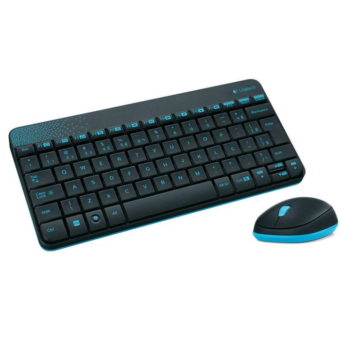 Logitech MK240 (920-005790) клавиатура + мышь920-005790Комплект из клавиатуры и мыши Logitech MK240. Всплеск цвета в обтекаемых формах: Потрясающее впечатление от цвета, формы и компактного дизайна в стиле минимализма. Удобная клавиатура и мышь: Естественное положение рук благодаря изящным низкопрофильным клавишам, обеспечивающим комфорт и бесшумность при каждом нажатии. В комплект также входит удобная мышь. Плавность движений, длительный срок службы: Надежная влагозащищенная конструкция с устойчивыми наклонными ножками обеспечивает длительный срок службы клавиатуры. Кроме того, вы по достоинству оцените точное управление перемещениями курсора, достигнутое благодаря высокоточной оптической технологии отслеживания (разрешение 1000 точек на дюйм).