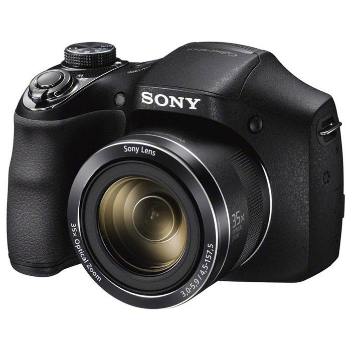 Sony Cyber-Shot DSC-H300 цифровая фотокамераDSCH300.RU3Камера Sony Cyber-shot DSC-H300 с мощным зумом и потрясающим качеством изображения. Компактная и удобная в использовании камера Cyber-shot H300 позволяет снимать невероятно четкие фотографии и видео в формате HD. Мощный 35-кратный оптический зум и функция Sweep Panorama раскрывают возможности съемки, а интеллектуальный автоматический режим Intelligent AUTO помогает достичь превосходных результатов без усилий. Максимальное приближение к месту действия: Путешествия, дикая природа и многое другое. Снимайте все что угодно с помощью 35-кратного оптического зума, который аккуратно убирается в корпус камеры. Шире взгляд: Вы не упустите самое главное: широкоугольный объектив позволяет включить в кадр еще больше интересных деталей, когда вы фотографируете в отпуске или во время вечеринок, либо делаете групповые портреты. Используйте функцию спецэффектов: Добавляйте спецэффекты к фотографиям, видеофильмам и панорамам без...