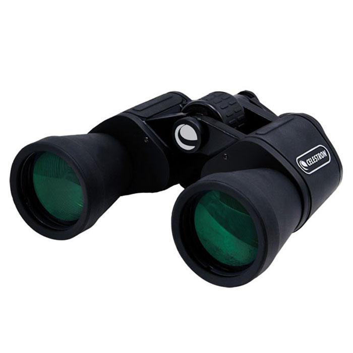 Celestron UpClose G2 10x50 бинокльC71256Бинокль Celestron UpClose G2 10x50 - это одна из самых популярных моделей в линейке биноклей UpClose G2. Бинокль прекрасно подходит для наблюдений за окружающим миром и живой природой, станет прекрасным дополнением к снаряжению путешественника или астронома-любителя. Благодаря светосильным объективам и просветлённой оптике с его помощью можно вести наблюдение даже в ранних сумерках или в условиях недостаточной освещённости. Основные характеристики бинокля Celestron UpClose G2 10x50 Увеличение 10х, светосильные объективы, широкое видимое поле зрения Призмы Porro из оптического стекла Bk-7, линзы с многослойным просветляющим покрытием Обрезиненный влагозащищённый пластиковый корпус, удобные резиновые наглазники Центральная фокусировка, регулировка межзрачкового расстояния, диоптрийная коррекция правого окуляра Комплектуется мягким кейсом для хранения и транспортировки Конструктивные особенности бинокля Celestron UpClose G2 10x50 ...