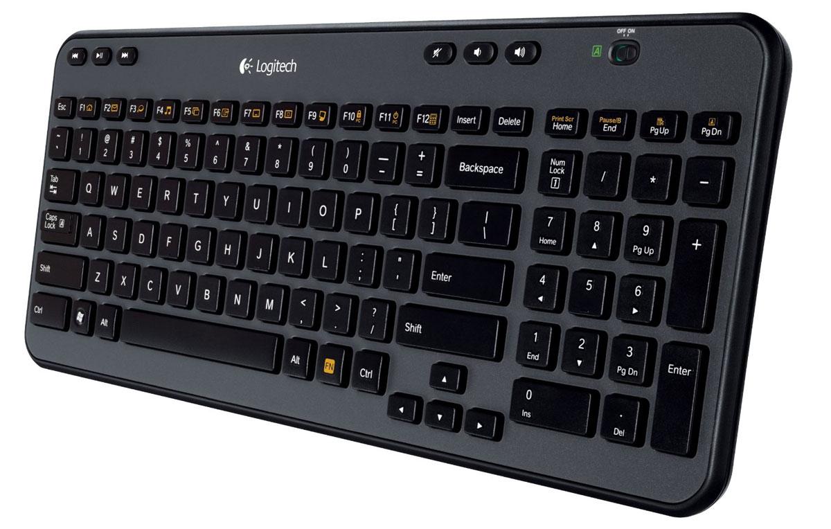 Logitech Wireless Keyboard K360 (920-003095)920-003095Беспроводная клавиатура Logitech Wireless Keyboard K360 изящна, удобна и компактна: занимает мало места, имеет привычное расположение клавиш, работает от одного комплекта батарей до трех лет и обеспечивает мгновенный доступ к часто осуществляемым действиям. Компактность и комфорт при пользовании ноутбуком: Набирать текст будет комфортнее на клавиатуре с привычным расположением клавиш. И при этом она на 20 % меньше, чем наши стандартные клавиатуры, так что для нее легко найти место в офисе, гостиной или любом другом месте, где бы Вы ни пользовались ноутбуком. Срок службы батареи 3 года: Увеличенный срок службы батареи означает, что не придется искать новые батарейки. Шесть специальных клавиш: Пропустить песню. Приостановить видео. Прибавить громкость. Шесть специальных клавиш для мгновенного доступа: воспроизведение, пауза, предыдущая запись, следующая запись, регулировка громкости и включение/отключение звука. Двенадцать...