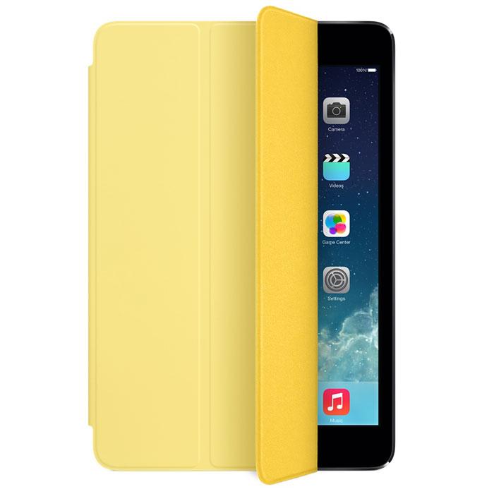 Apple iPad mini Smart Cover чехол для iPad mini Retina, YellowMF063ZM/AЛёгкая и прочная обложка Apple iPad Smart Cover полностью обновлена, чтобы соответствовать дизайну iPad mini с дисплеем Retina. Она защищает дисплей планшета, не закрывая заднюю часть алюминиевого корпуса. Поэтому Ваш iPad выглядит именно как iPad — только он лучше защищён. Обложка изготовлена из мягкого прочного полиуретана и доступна в шести ярких цветах. А её мягкая подкладка из микрофибры того же цвета помогает поддерживать экран в чистоте. Крепление обложки идеально прилегает к корпусу планшета, а магниты надёжно удерживают её. При открытии чехла-обложки iPad mini автоматически выходит из режима сна, а при закрытии моментально возвращается в режим сна. Обложка Smart Cover может служить подставкой для набора текста. Сложите её, чтобы установить iPad mini с удобным наклоном. Продуманная конструкция обложки Smart Cover также позволяет сложить её и превратить в идеальную подставку для общения в FaceTime и просмотра фильмов.