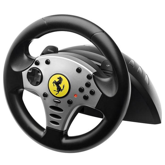Thrustmaster Ferrari Challenge Wheel (2960702) руль2960702Самая популярная типовая гоночная система Thrustmaster Ferrari Challenge Wheel с официальной лицензией стала еще лучше, благодаря новой электронике с поддержкой ПК/PlayStation3, новому педальному блоку и увеличению количества кнопок. Комплект «руль+педали» Ferrari Challenge новой версии предлагает значительные усовершенствования, призванные сделать удовольствие от игры еще более полным. 3 дополнительные кнопки для больших возможностей управления в новейших гоночных играх. Функциональность этих кнопок дополняется новой доработанной электроникой. Кроме того, все механические компоненты рулевой системы оптимизированы. Особого упоминания заслуживает полностью обновленный педальный блок с кардинально улучшенной эргономикой. Новая конфигурация системы обеспечивает удобство использования для всех геймеров, независимо от размера ноги, а также гарантирует оптимальное управление нажатием на педали газа и тормоза. В итоге система имеет современный и «напористый» дизайн, причем...