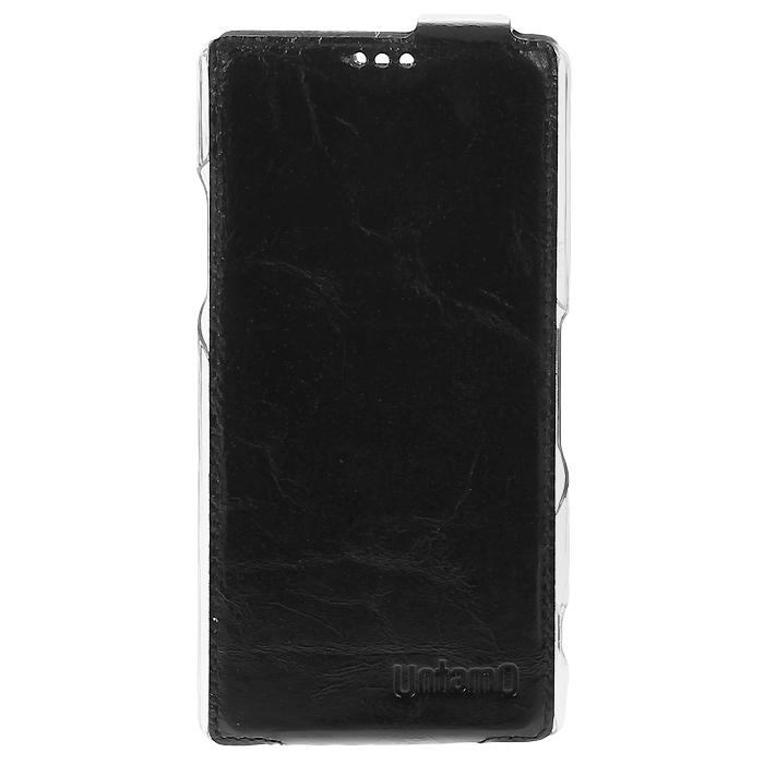 Untamo Timber чехол-флип для Sony Xperia Z1, Black (UTIMFSZ1BL)