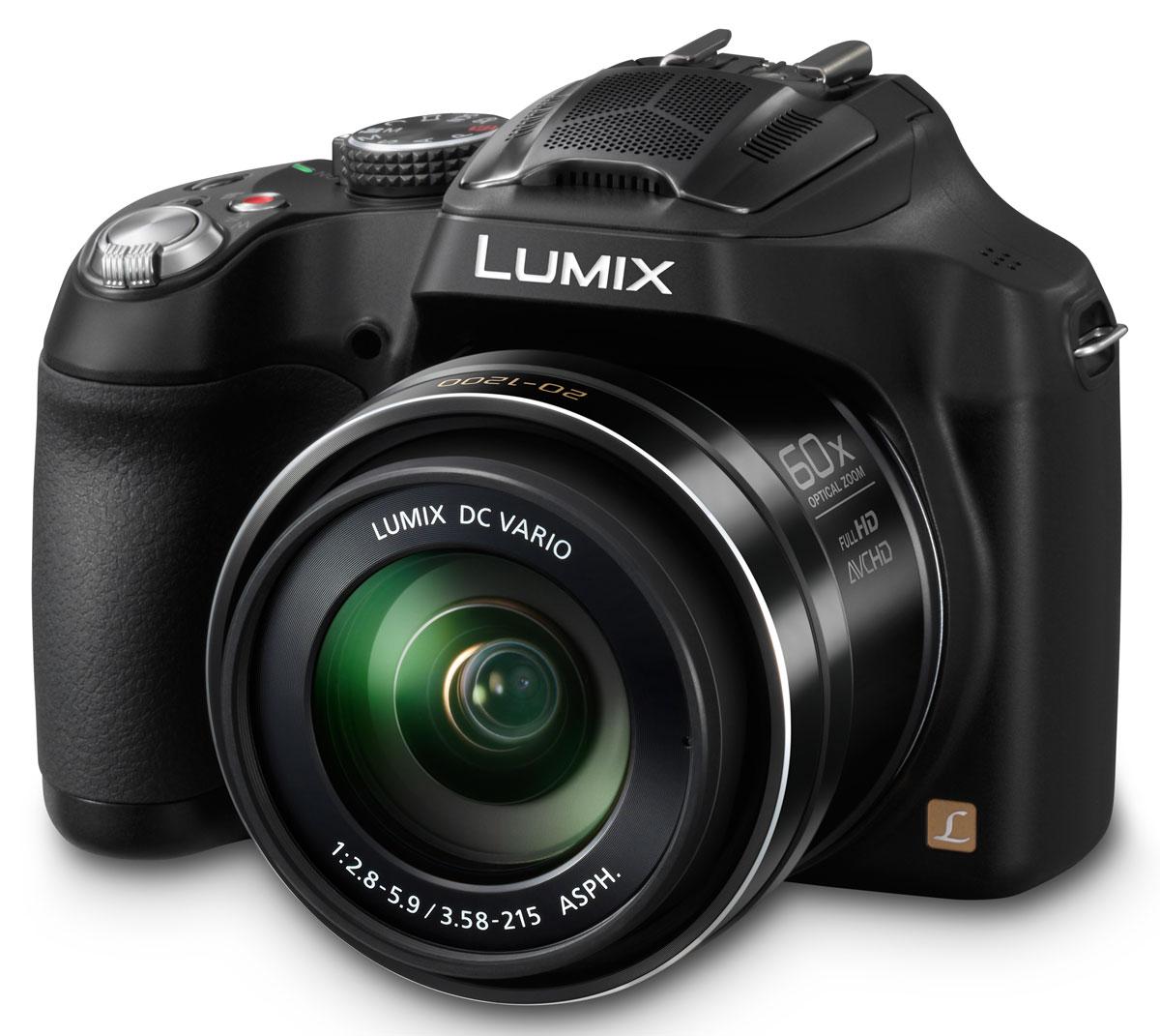 Panasonic Lumix DMC-FZ72 Black цифровая фотокамераDMC-FZ72EE-KЦифровая фотокамера PAnasonic Lumix DMC-FZ72 предлагает мощный оптический зум и широкие возможности ручного управления. Фотоаппарат оснащен универсальным широкоугольным объективом Lumix DC Vario с фокусным расстоянием 20 мм и 60х оптическим зумом (20—1200 мм в эквиваленте 35 мм камеры), который прекрасно подходит как для съемки пейзажей, так и, например, диких животных и птиц с большого расстояния. Широкоугольный объектив с 60х оптическим зумом и оптической стабилизацией изображения POWER O.I.S.: Фотоаппарат DMC-FZ72 оснащен универсальным широкоугольным объективом Lumix DC Vario с фокусным расстоянием 20 мм и 60х оптическим зумом (20—1200 мм в эквиваленте 35 мм камеры). Конструкция объектива включает 14 элементов, объединенных в 12 групп, в том числе 3 линзы со сверхнизкой дисперсией и 6 асферических линз с 9 асферическими поверхностями — такое решение позволило добиться невероятной компактности корпуса при высочайшем качестве изображения. Функция Интеллектуальный...