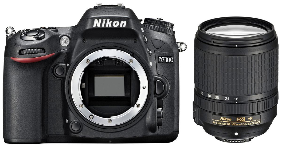 Nikon D7100 Kit 18-140 VR цифровая зеркальная камераVBA360K002Производительная 24,1-мегапиксельная фотокамера Nikon D7100 формата DX позволит любителям фотосъемки создавать незабываемые динамичные фотографии. Эта многофункциональная, чрезвычайно легкая и компактная модель, заключенная в прочный корпус, позволяет расширить возможности фотосъемки. Благодаря 51-точечной системе АФ фотокамеры Nikon D7100 Вы можете воплощать в жизнь свое творческое видение на профессиональном уровне и при этом получать превосходные фотографии с высоким уровнем детализации, а также четкие и резкие видеоролики в формате Full HD. Расширенные возможности для получения изображений превосходного качества: Фотокамера Nikon D7100 оснащена множеством различных функций, благодаря которым перед Вами открываются неограниченные возможности для съемки, а также достигается невиданное ранее качество изображений. Мощная КМОП-матрица формата DX с разрешением 24,1 мегапикселя гарантирует получение резких и детализированных изображений. За счет того,...