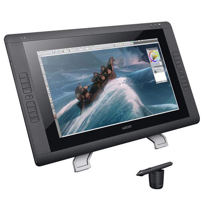 Wacom Cintiq 22HD Touch графический планшетDTH-220022-дюймовый интерактивный дисплей Wacom Cintiq 22HD Touch с поддержкой функции распознавания прикосновений. Обновленная версия перьевого интерактивного дисплея Cintiq 22HD поддерживает функцию сенсорного ввода multi-touch, благодаря которой работа за компьютером станет еще более интуитивной и быстрой. Среди дополнительных характеристик обновленной модели стоит отметить 21,5-дюймовый экран Full HD, эргономичную подставку с регулируемым наклоном и вращением и 16 настраиваемых клавиш ExpressKeys. Cintiq 22HD Touch идеально подходит профессиональным пользователям как художники, графические дизайнеры и разработчики игр. Больше ощущений: Multi-touch позволяет пользователям работать с цифровыми инструментами наиболее естественным и интуитивным способом. Функция поддерживает такие жесты как вращение холста, увеличение, уменьшение и перемещение объектов. Cintiq 22HD Touch предельно точно имитирует привычную работу с такими материалами, как кисти и маркеры, и...