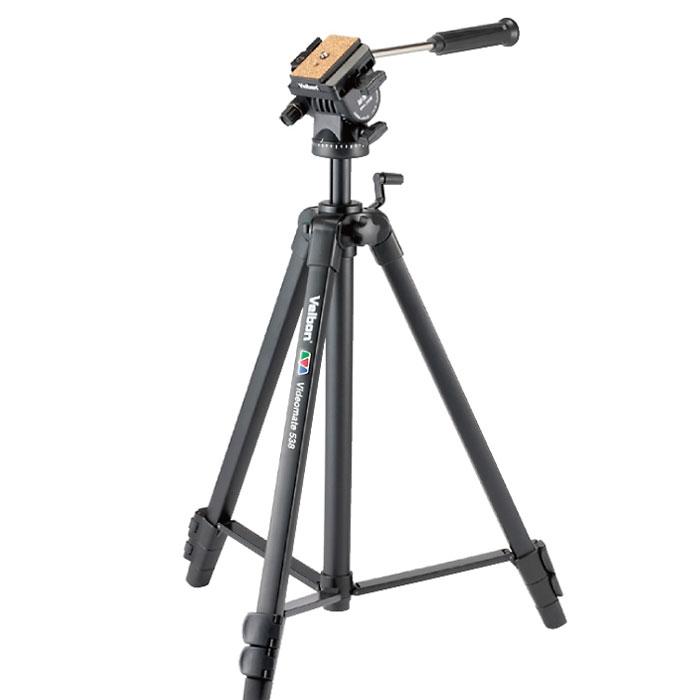 Velbon Videomate 538\F штативVideomate 538\FВидеоштатив с замками-клипсами. Несъемная гидростатическая композитная 2d-видеоголовка Velbon PH-368 Vel-Flo 9 (площадка QB-6RL) на подъёмной реечной центральной колонне обеспечивает максимальную мобильность камеры.