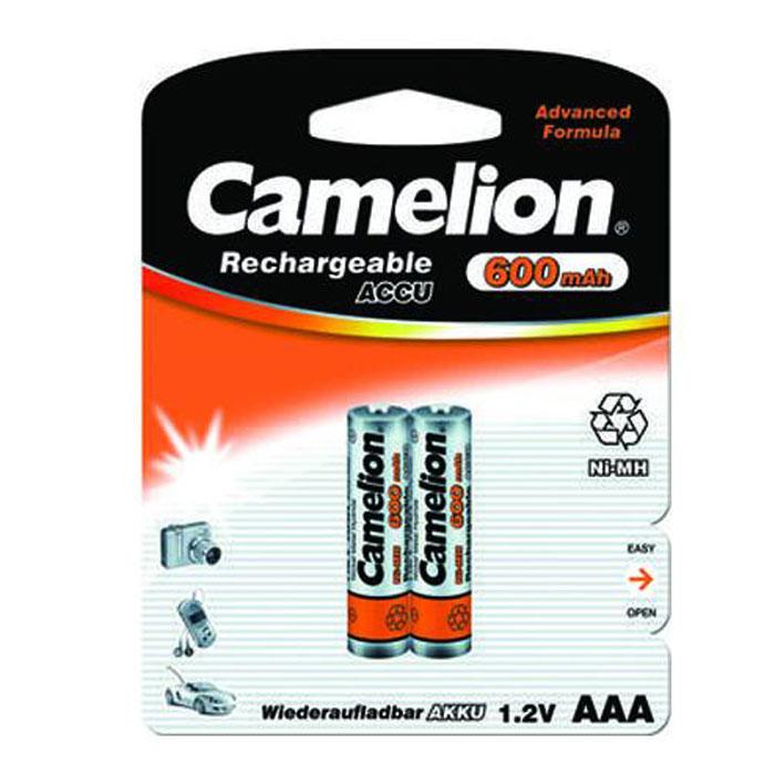 Camelion AAA-600mAh Ni-Mh BL-2 (NH-AAA600BP2) 2 аккумулятора, 1.2В2695Никель-металлогидридные батареи Camelion AAA-600mAh Ni-Mh BL-2 (NH-AAA600BP2). Особенностью таких аккумуляторов является их высокая емкость, отсутствие эффекта памяти, возможность быстрого заряда. Они находят применение в таких условиях, как MP3- плееры, цифровые фото- и видеокамеры, телефоны и т.д. Ni-Mh аккумуляторы являются абсолютно безопасными для окружающей среды.