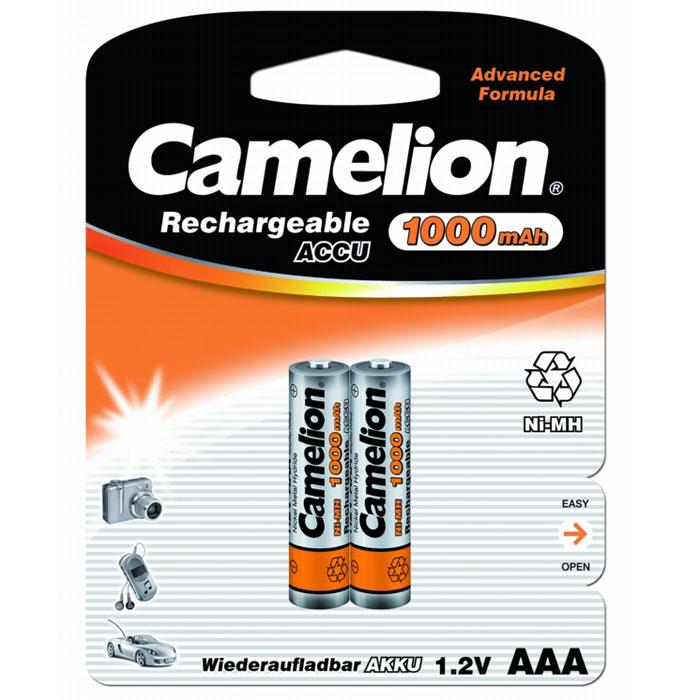 Camelion AAA-1000mAh Ni-Mh BL-2 (NH-AAA1000BP2) �����������, 1.2�, 2 ��