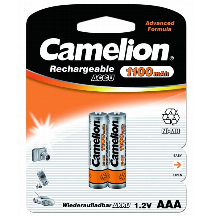 Camelion AAA-1100mAh Ni-Mh BL-2 (NH-AAA1100BP2) 2 аккумулятора, 1.2В
