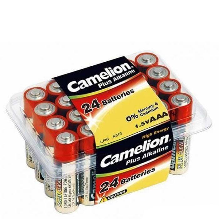 Camelion LR03-PB24 Plus, батарейки 1.5В, 24 шт7615Щелочные алкалиновые батарейки Camelion LR03-PB24 отличаются долгим сроком работы, подходят для -аудио -видео техники, а также другой электроники и бытовых приборов. Сделаны из качественных материалов.