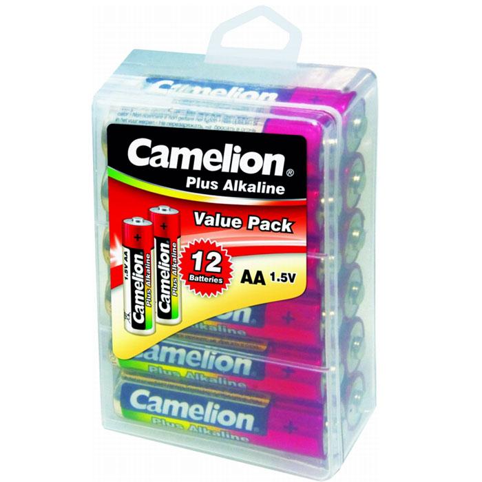 Camelion LR6-PBH12 Plus, батарейка,1.5В, 12 шт10648Алкалиновые элементы питания Camelion LR6-PBH12 с высокой энергоемкостью. Предназначены для использования в пультах дистанционного управления, различной -аудио, -видео технике.
