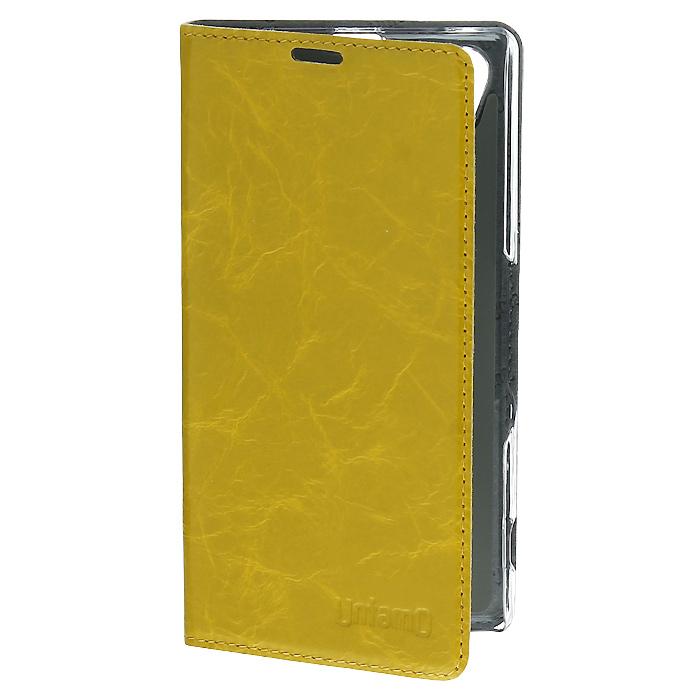 Untamo Timber чехол для Sony Xperia Z1, Lemon Tree (UTIMBSZ1LEM)UTIMBSZ1LEMУльтратонкий чехол-книжка Untamo Timber для Sony Xperia Z1 идеально дополняет выверенные формы смартфона, а также обеспечивает всестороннюю защиту устройству от царапин и загрязнений. Пластиковая рамка- держатель надежно фиксирует смартфон, оберегая его боковые стороны и углы. Деликатная внутренняя отделка из микрофибры создает дополнительную защиту сенсорному экрану, деликатно удаляет следы от пальцев и пыль. Чехлы являются также удобной подставкой для комфортной работы с текстом, изображениями и видео. Аксессуары производятся в широкой фирменной гамме роскошных оттенков глянцевой кожи коллекции Timber.