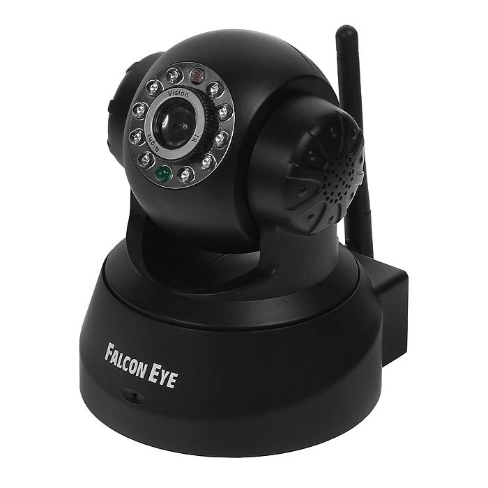 Falcon FE-MTR300, Black поворотная беcпроводная камераFE-MTR300BlБеспроводная поворотная Wi-Fi-IP-камера Falcon FE-MTR300 идеально подходит для осуществления видеонаблюдения в доме, квартире, офисе и других помещениях, где есть Интернет. Данная модель дает возможность удаленного просмотра происходящего на контролируемом объекте. Управляя устройством, вы можете удаленно поворачивать камеру и наблюдать за той точкой объекта, которая интересна в данный момент времени. Данная функция возможна благодаря повороту камеры на 340° по горизонтали 90° по вертикали. Встроенные микрофон и динамик позволяет не только слушать, но и общаться с наблюдаемыми людьми. Благодаря инфракрасной подсветке существует возможность производить видеонаблюдение в темное время суток и при полном отсутствии освещения. Передача звука 2-х стороннее аудио Поворот/наклон камеры Угол поворота камеры по горизонтали 340°, по вертикали 90° Wi-Fi IEEE 802.11b/g LAN RJ-45 (10BASE-T/100BASE-TX) Тревога 5 уровней чувствительности ...