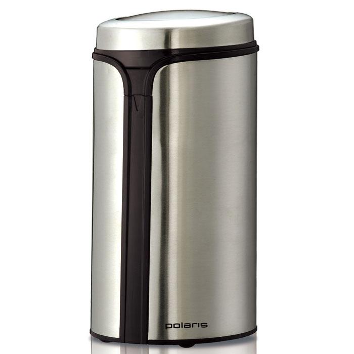 Polaris PCG 0815А кофемолкаPCG 0815АПривлекательный современный дизайн и хорошие технические характеристики кофемолки Polaris PCG 0815A по достоинству оценят любители свежесваренного натурального кофе. Чаша для зерен рассчитана на 70 граммов, что достаточного для приготовления 5-6 чашек напитка. Она оснащена острым ножом из нержавеющей стали, который, вращаясь с большой скоростью, перемалывает зерна кофе. Степень помола регулируется временем работы – чем дольше работает кофемолка, тем сильнее будут измельчены зерна. Импульсный режим также позволяет достичь наилучшего качества помола. Безопасность работы прибора обеспечивает функция блокировки при снятой крышке.