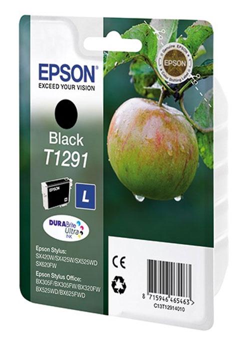Epson T1291 картридж для Stylus SX420W/SX425W/SX525WD/B42WD/BX320FW/BX625WFD/BX305F, черныйC13T12914011Картридж Epson T1291. Компания Epson производит картриджи для струйной печати с ресурсом, соответствующим стандартам ISO/IEC FCD 24711 и 24712.