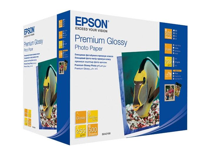 Epson Premium Glossy Photo 255/13x18/500л, глянцевая