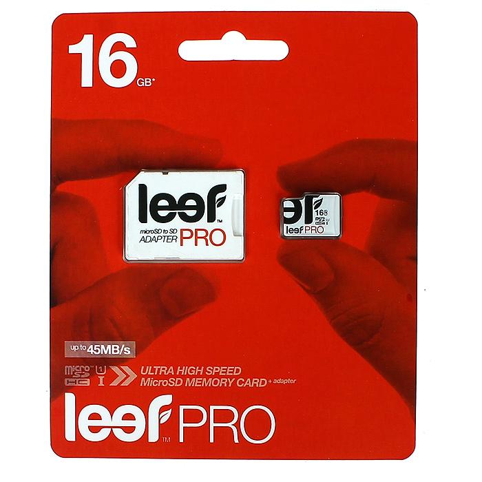 Leef microSD PRO 16GB UHSLFMSDPRO-01610RLeef microSD PRO - профессиональная карта памяти. Позволяет надежно хранить фотографии, музыку, фильмы и любую другую информацию. Она выпускается в вариантах различной емкостью и идеально подходит для планшетных ПК и смартфонов. Вся продукция Leef водонепроницаемая, ударопрочная, имеет пылезащищенный корпус и устойчива к работе в экстремальных температурных условиях.