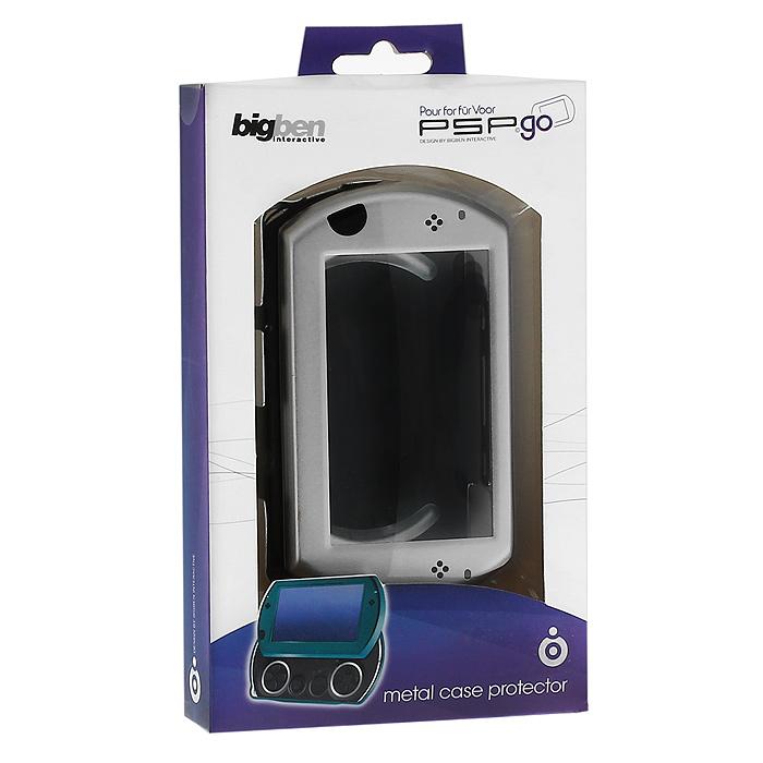 Защитный металлический корпус для PSP Go (цвет: серебро)