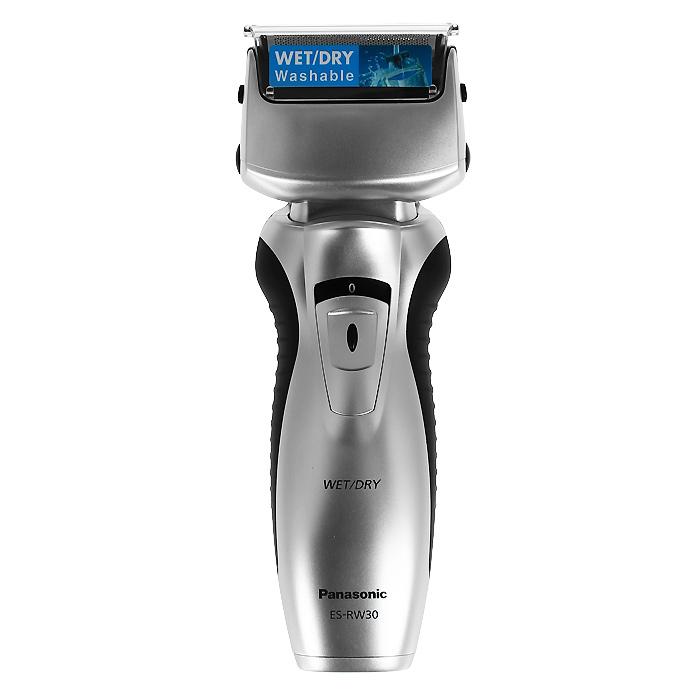 Panasonic ES-RW30-СМ520ES-RW30CM520Электробритва ES-RW30-CM520. Чистое и комфортное бритье WET/DRY - сухое и влажное: Использование пены помогает бритве легче скользить по коже, обеспечивая удивительно ощущение комфорта. Пена также способствует вытягиванию волосков, что позволяет сбривать их максимально близко к корням. Помимо чистоты и удобства влажное бритьё дарит ещё и несравненную свободу действий – теперь бриться можно, даже принимая душ. Простая чистка при помощи жидкого мыла: Выбор режимов бритья для различных типов кожи и щетины с помощью нового переключателя в виде диска позволяет обеспечить комфортное и качественное бритье для любых типов кожи и щетины. Простая чистка при помощи жидкого мыла: 1. Просто возьмите немного жидкого мыла и нанесите его на головки бритвы. 2. Включите электробритву и дайте ей поработать, пока не образуется густая мыльная пена. 3. Водонепроницаемый корпус позволяет промыть головки бритвы проточной водой.