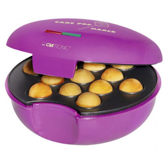 Clatronic CPM 3529 кейкпопмейкерCPM 3529Аппарат для приготовления кейкпопсов (попкейков) Clatronic CPM 3529 рассчитан на приготовление 13 пирожных. Кейкпопсы (от англ. Cake Pops) - это кондитерские изделия в виде шара на палочке. Состоят из сахарной глазури и шоколада. Изготавливаются обычно в виде шариков, кубиков, но бывают также и необычный формы (миньоны, деды морозы и т.д). Начинка у кейкпопсов бывает разнообразная, также как и посыпка.