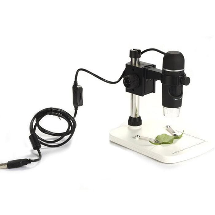 Levenhuk DTX 90 микроскоп61022Levenhuk DTX 90 – это современный профессиональный USB-микроскоп для сверхточных работ. Дает увеличение в диапазоне от 10 до 300 крат. Оснащен 5-мегапиксельной камерой. Микроскоп комплектуется специальным штативом и основанием с измерительной шкалой (8 см по оси x, 7 см по оси y) и двумя зажимами для закрепления образца под камерой. Микроскоп позволяет получать снимки высокого качества и разрешения. Подключается к компьютеру или ноутбуку через стандартный порт USB 2.0. Изучение образцов и обработка изображения происходит с помощью программы захвата изображения, входящей в стандартную комплектацию. Помимо записи и редактирования фотографий и видеозаписей, программа умеет измерять длину объекта, периметр, радиус, диаметр, а также разнообразные углы. Микроскоп Levenhuk DTX 90 очень прост в использовании и не требует специальной подготовки пользователя. Небольшие размеры прибора делают его очень удобным для домашнего использования. При необходимости Вы можете снять...