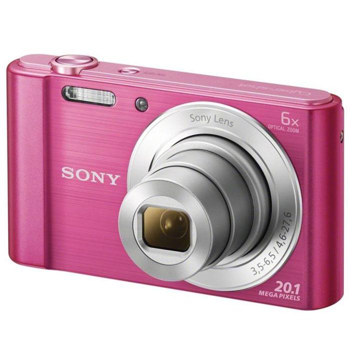 Sony Cyber-shot DSC-W810, Pink цифровой фотоаппарат original digital camera repair parts dsc hx50 zoom for sony cyber shot hx50 lens hx60v lens no ccd unit black free shipping