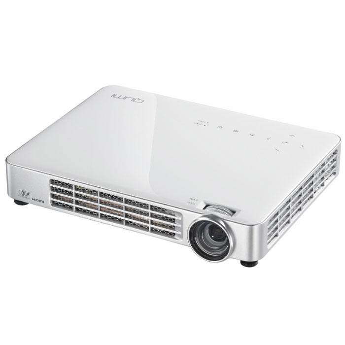 Vivitek Qumi Q7, White мультимедийный LED-проекторQ7-WTНесмотря на компактные размеры, сопоставимые с габаритами обычного планшета, - 24 x 18 x 4 см, и небольшой вес - 1,4 кг., проектор Qumi Q7 обладает впечатляющими, для устройств своего класса техническими характеристиками: яркость 800 ANSI люмен, контрастность 30 000:1. Qumi Q7 воспроизводит HD изображение диагональю до 107 (~ 2,5 метра) в диапазоне проекционных расстояний 0,8 - 3 метра. В отличие от младших моделей Q2 и Q5 у него есть оптический зум 1.1. Q7 - это не просто проектор, а настоящий мультимедийный комплекс, оснащенный встроенным мультимедийным плеером для воспроизведения аудио, видео файлов и изображений, а также поддержкой просмотра документов Microsoft Office, Adobe PDF. Подключив к проектору мышь и клавиатуру, пользователь получает возможность путешествовать по интернету без использования компьютера, используя встроенный веб-браузер. Проекционная система: 0.45 DMD DLP Technology от Texas Instruments Проекционное отношение: 1.30 - 1.43:1...