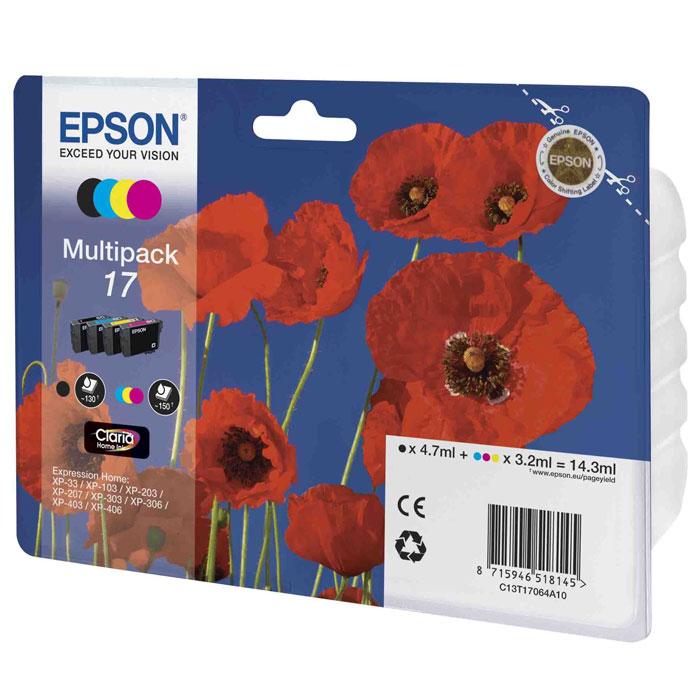 Epson 17 Multipack (C13T17064A10) ����� ���������� ��� XP-33/XP-103/XP-406